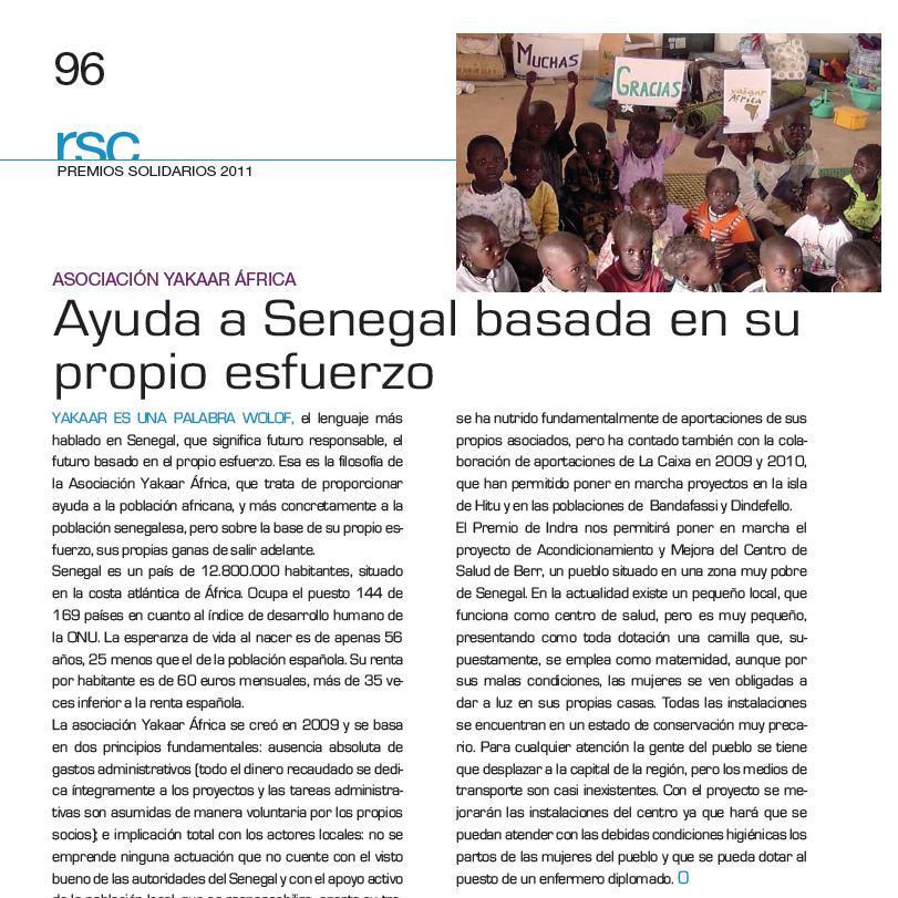 Yakaar Africa en la Revista Actualidad Aseguradora