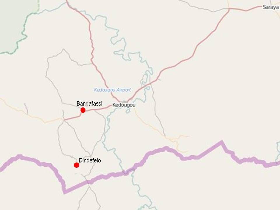 Mapas Senegal Bandafassi y Dindefelo