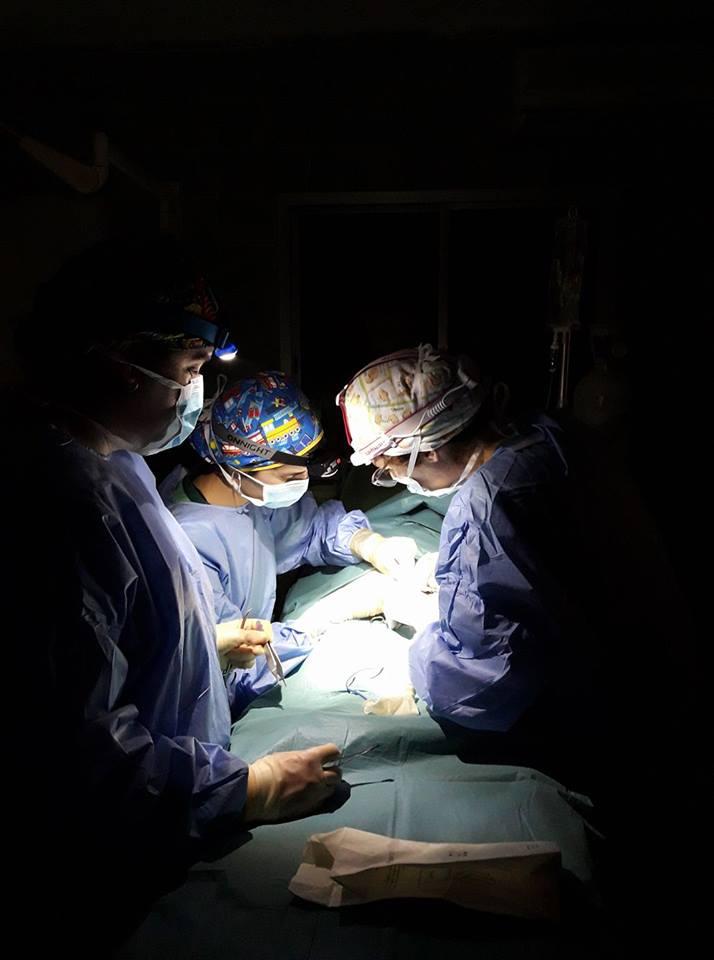 Operación de niños en Senegal